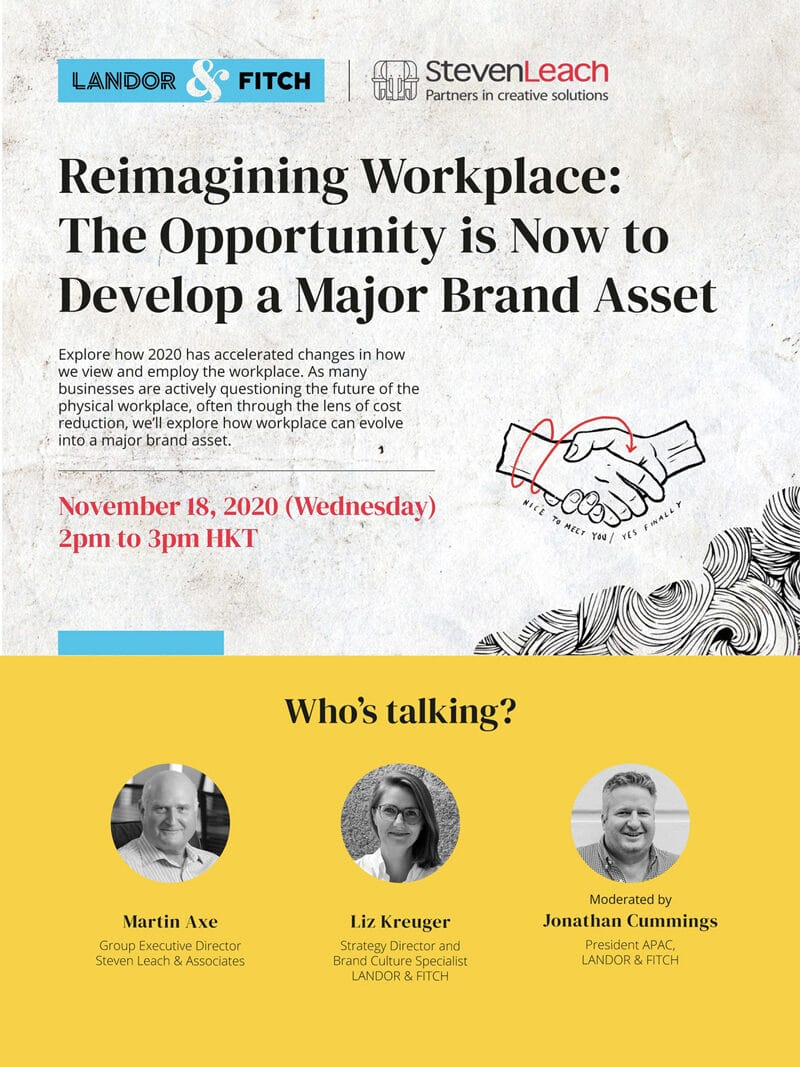 "SLA x L&F | Webinar | ""Reimagining Workplace: The Opportunity is Now to Develop a Major Brand Asset"""